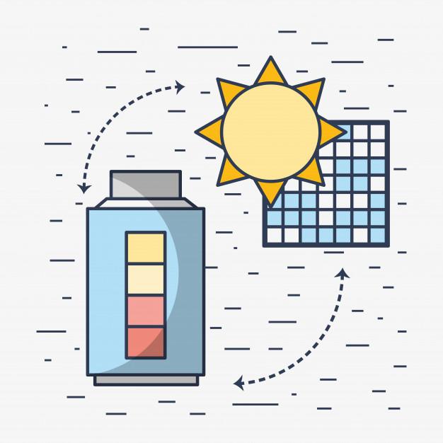 Sistema de baterías en instalación solar, monoblock, agm, litio, estacionarias