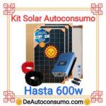 Kit Solar Autoconsumo Básico hasta 600w Panel Inversor Bateria Cables