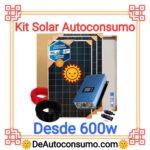 Kit Solar Autoconsumo Profesional desde 600w Panel Bateria Inversor Cables Estructura