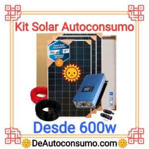 Kit Solar Autoconsumo Profesional desde 600w