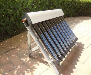 Panel solar térmico o colector solar