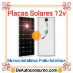 Placas Solares 12v Monocristalinas Policristalinas Sistema Solar Kit