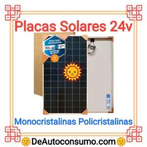Placas Solares 24v Monocristalinas Policristalinas
