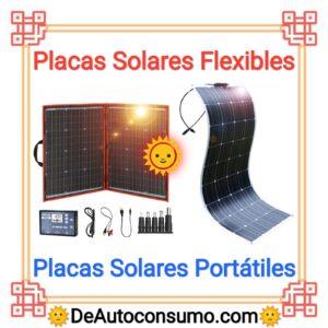 Placas Solares Flexibles Portátiles Camper Caravana Autocaravana Camping Montaña