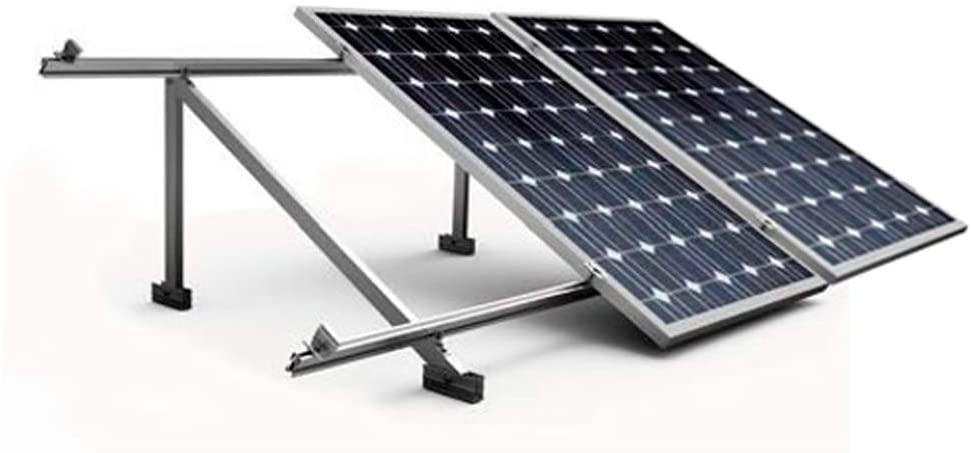 estructura placas solares suelo o tejado plano