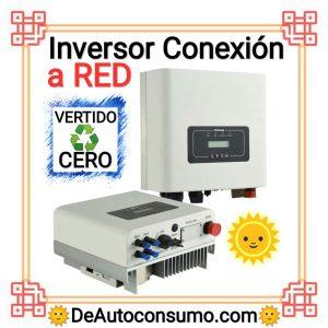 mejor Inversor Conexión a Red, inversor vertido cero