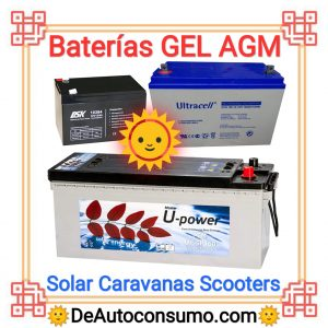 Baterías de GEL AGM solar caravanas scooters