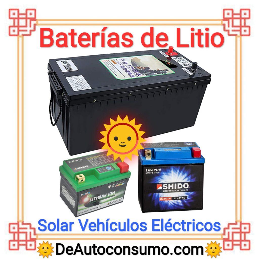 Baterías de Litio Solar Vehículos Eléctricos