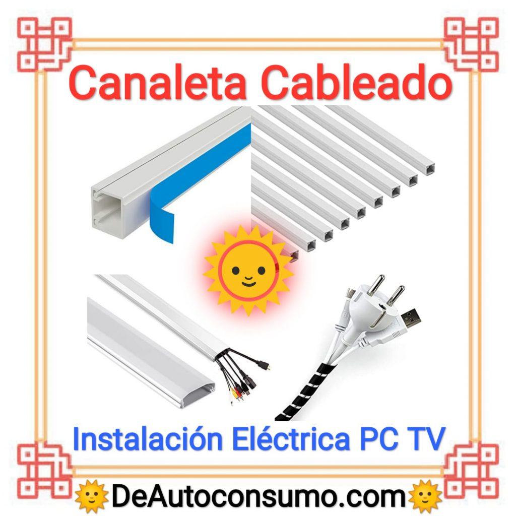 Canaleta Cableado Instalación Eléctrica Cables PC TV