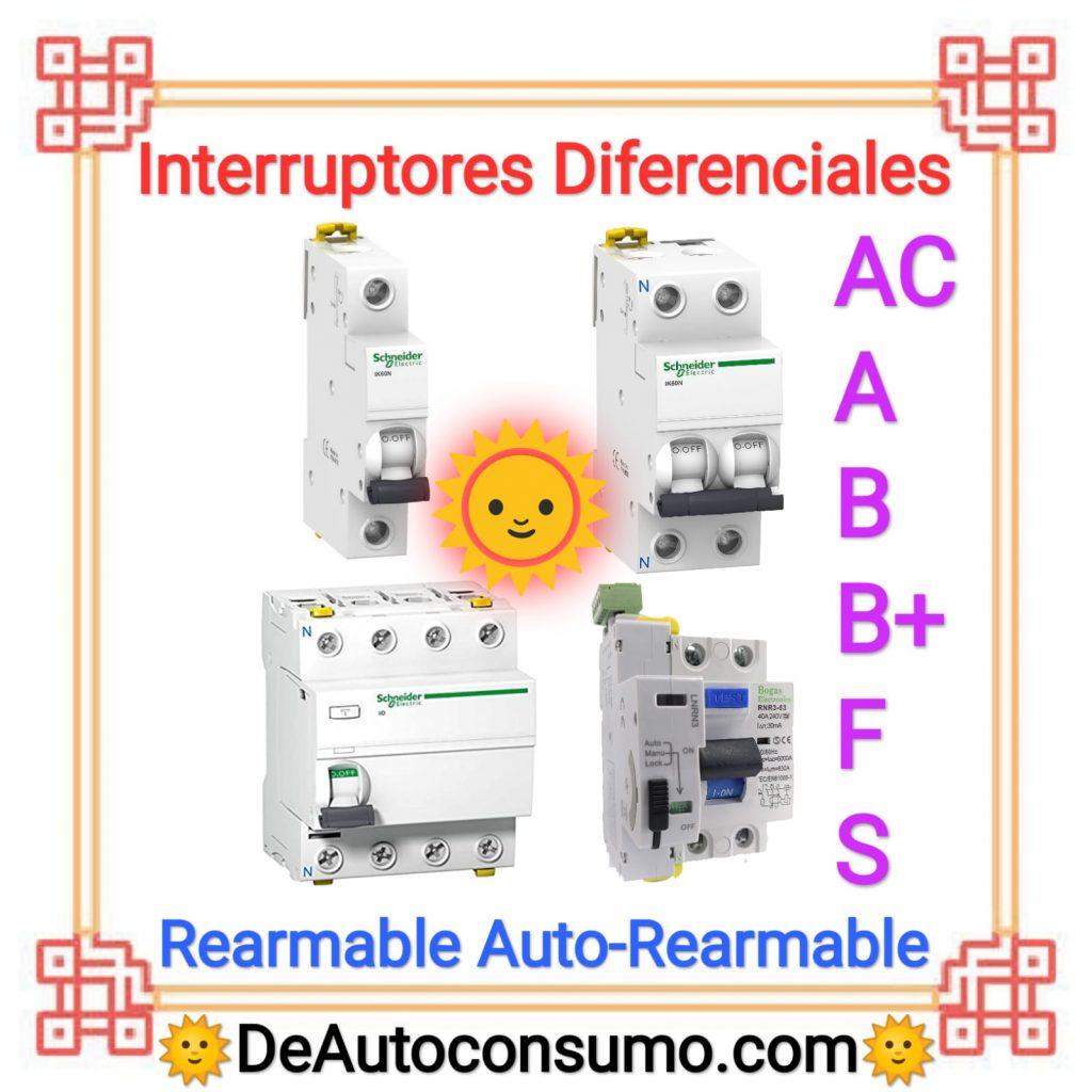 Interruptores Diferenciales Rearmables Auto-Rearmables