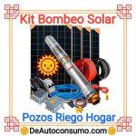 Kit Bombeo Solar Pozos Riego Hogar