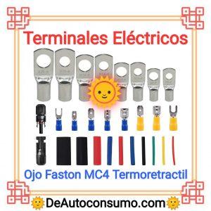 Terminales Eléctricos Ojo Faston Conector mc4 termoretractil