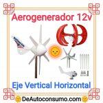 Aerogenerador 12v Eje Vertical Horizontal Doméstico