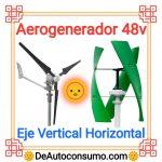 Aerogenerador 48v Eje Vertical Horizontal Doméstico