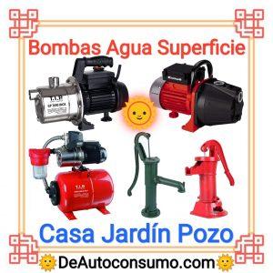 Bombas de Agua Superficie Casa Jardín Pozo Piscina Manual