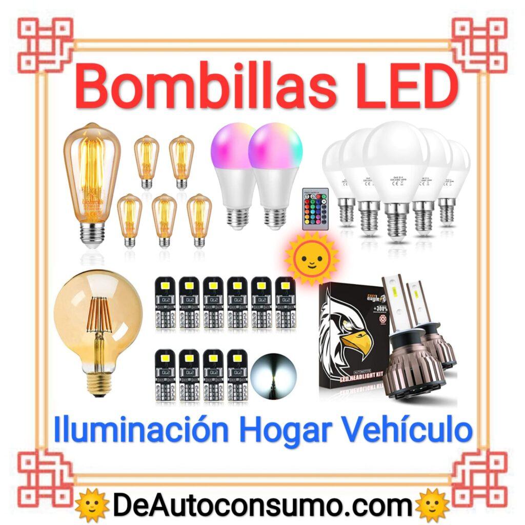 Bombillas LED Iluminación Hogar Vehiculo E14 E27 H1 T10 H4 P21W