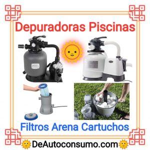 Depuradoras Piscinas Filtros Arena Vidrio Cartuchos Bolas Polietileno