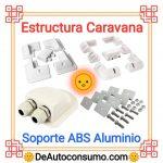 Estructura Caravana Soporte Panel Solar ABS Aluminio