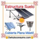 Estructura Suelo Placas Solares Cubierta Plana Mástil