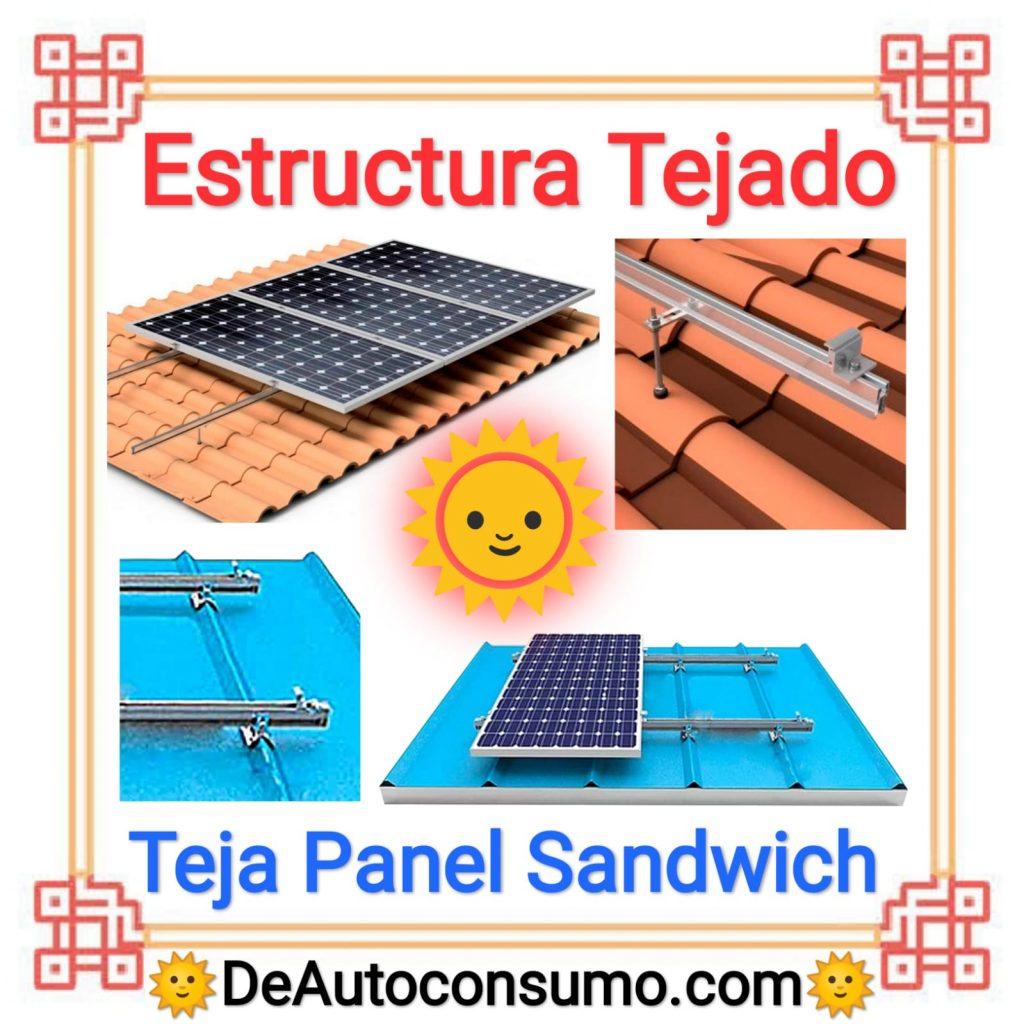 Estructura Tejado Teja Panel Sandwich