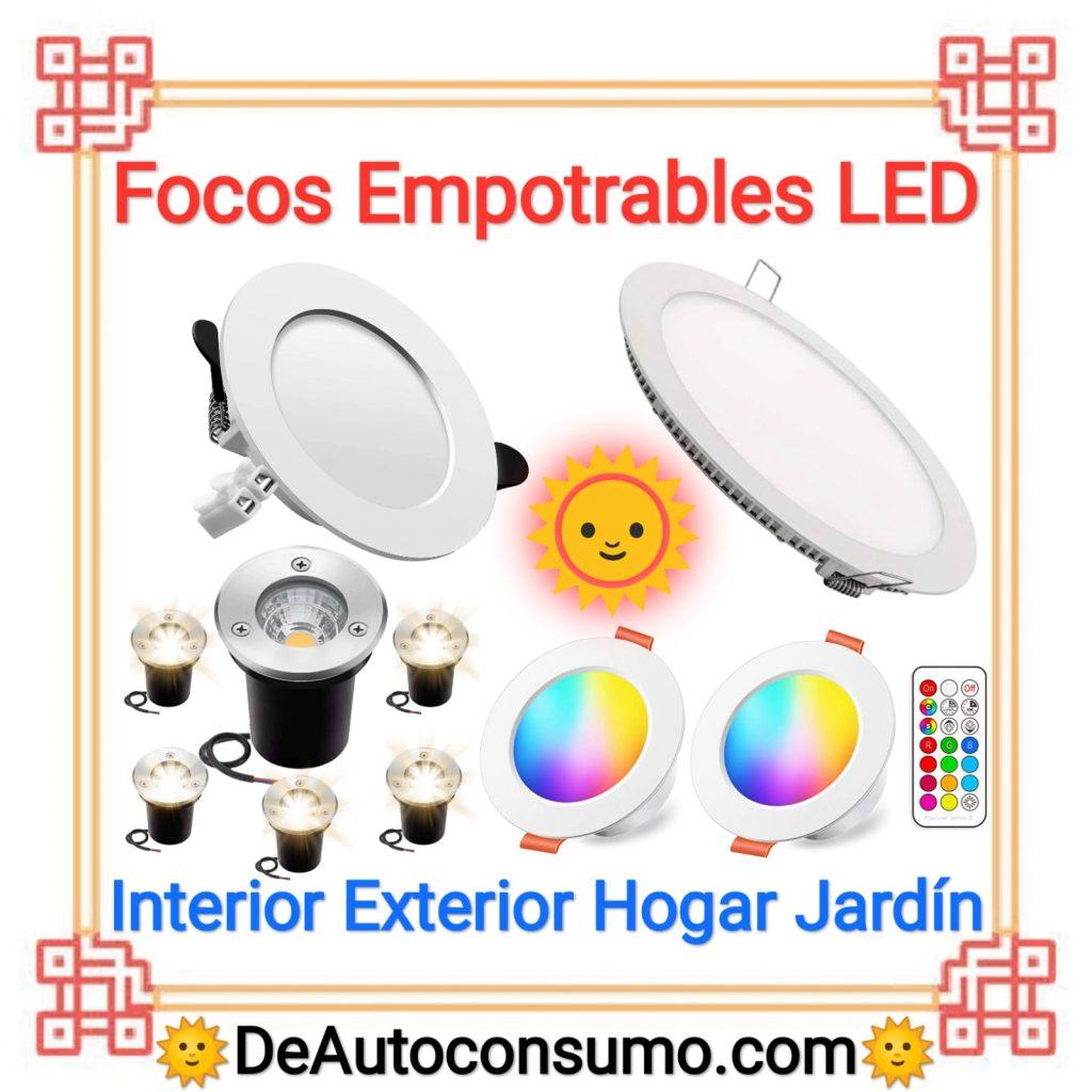Focos Empotrables LED Interior Exterior Hogar Jardín Piscina