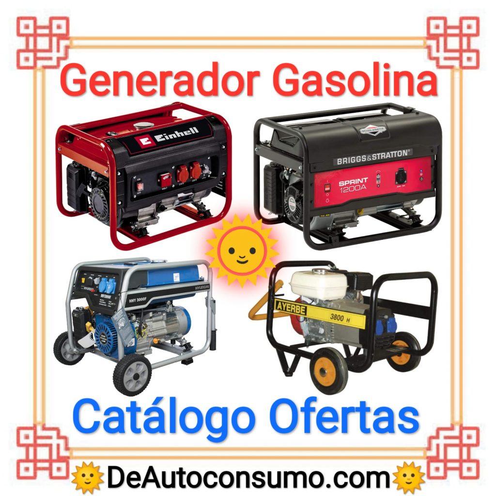Generador Gasolina Eléctrico Catálogo Ofertas