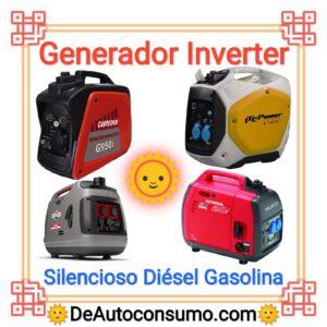Generador Inverter Silencioso Gasolina Diesel Casa Feria Mercado Puesto Ambulante
