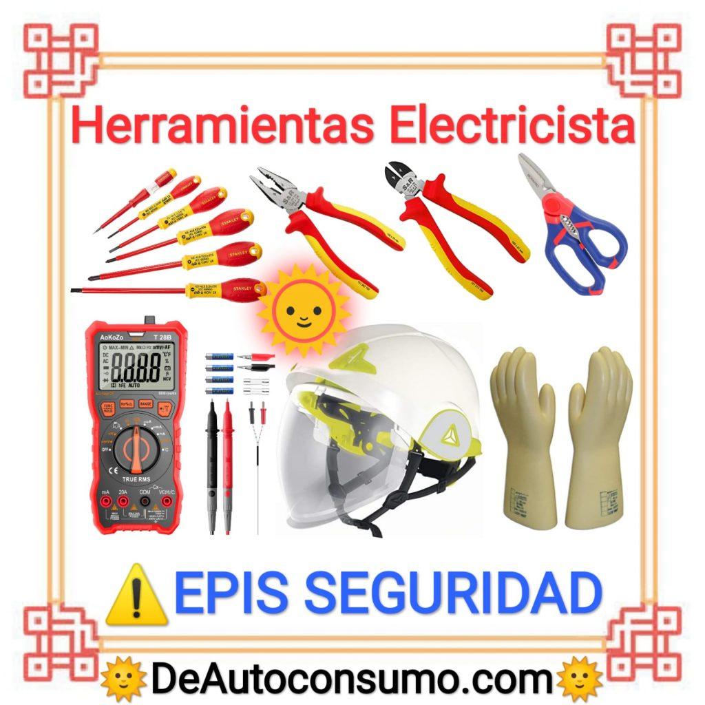 Herramientas Electricista EPIS Seguridad
