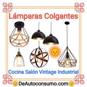 Lámparas Colgantes Hogar Cocina Salón Dormitorio Vintage Industrial