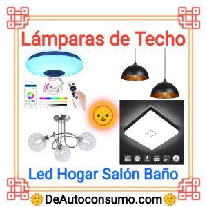 Lámparas de Techo Led Hogar Salón Baño Habitación