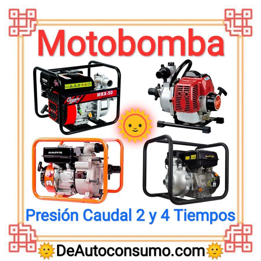 Motobomba Alta Presión Alto Caudal Aguas Limpias Sucias 2 y 4 Tiempos