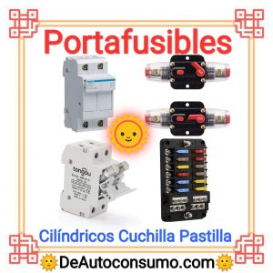 Portafusibles Cilindricos De Cuchilla De Pastilla Individual De Una Entrada De Varias Entradas