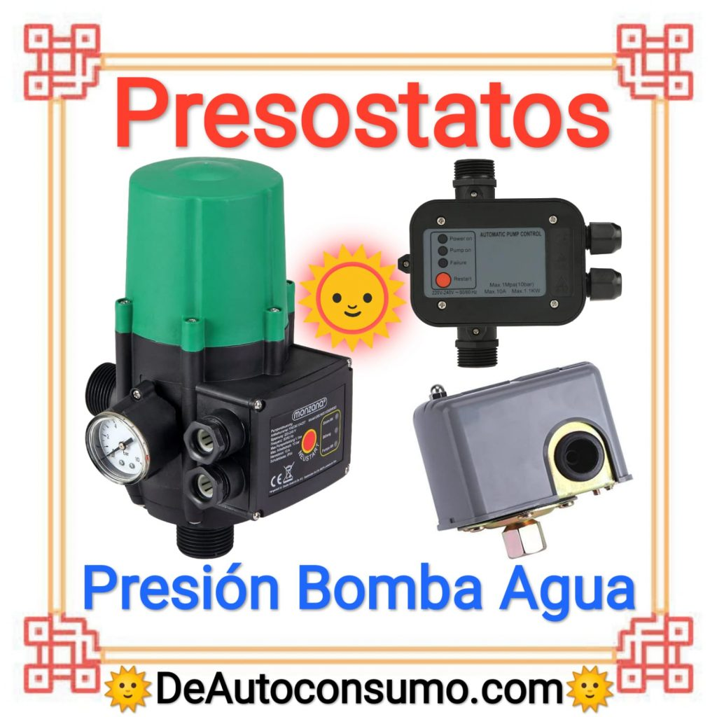 Presostatos Regular Presión Bomba Agua Tradicional Electrónico