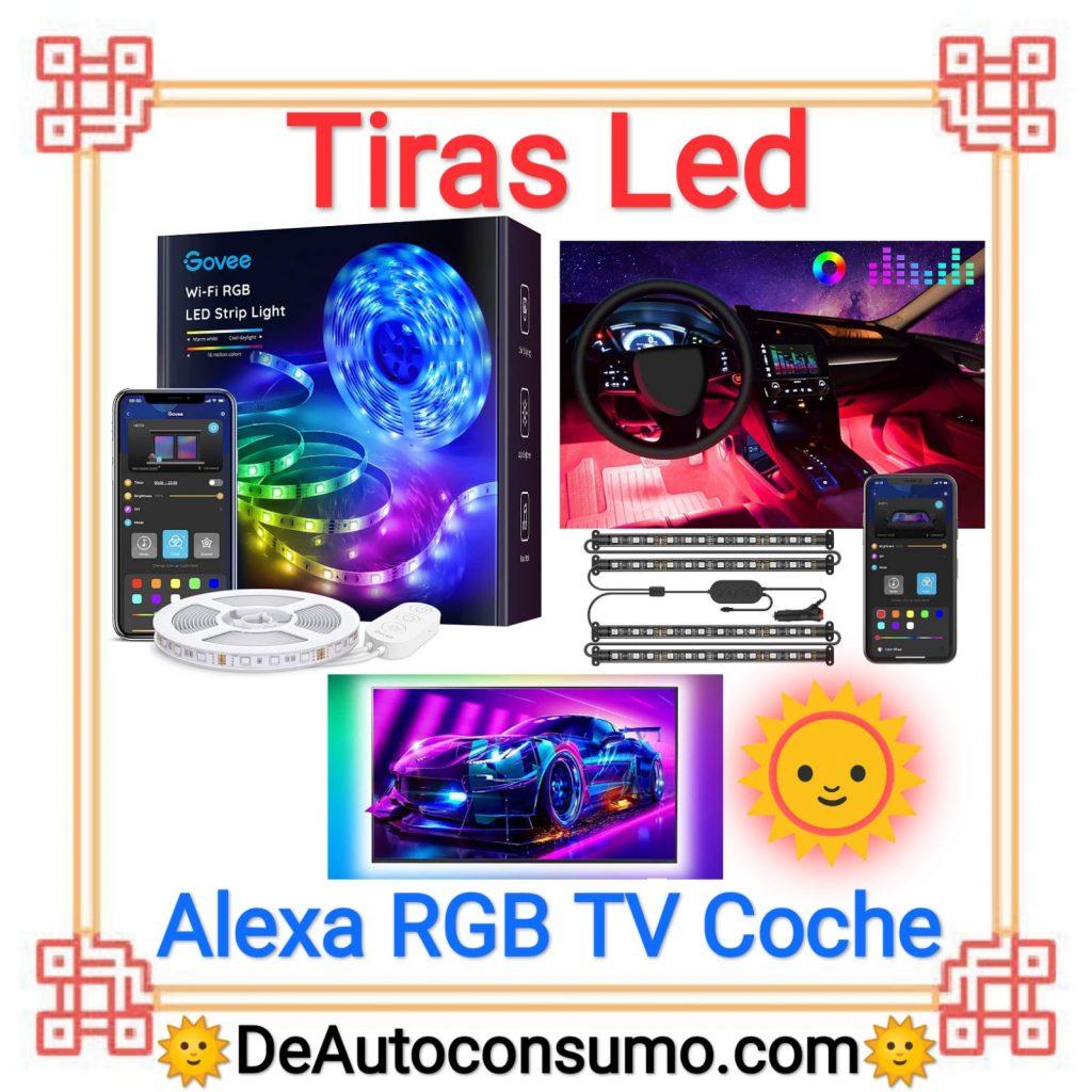 Tiras Led Alexa RGB TV Coche Hogar