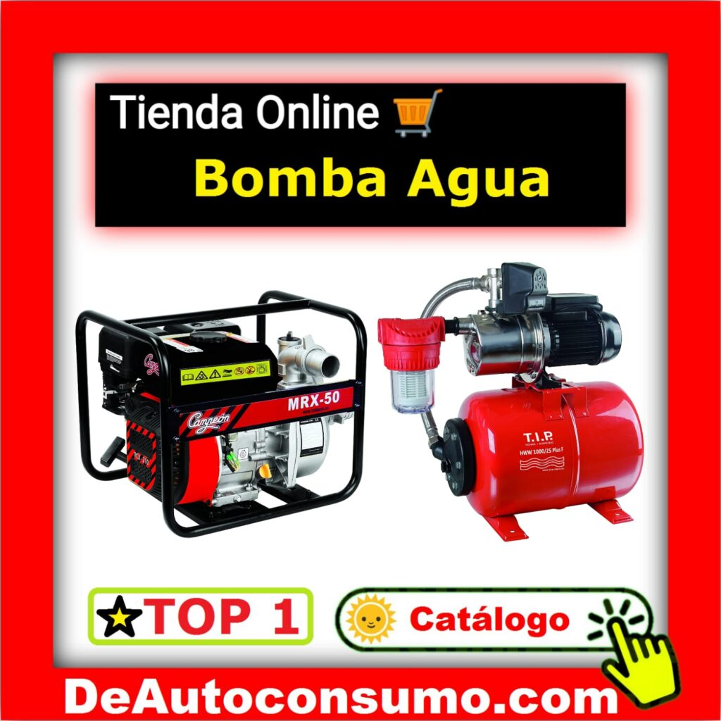 Bombas Agua Motobomba Superficie Sumergibles Presión Calderines Presostatos Depuradoras Variadores Frecuencia